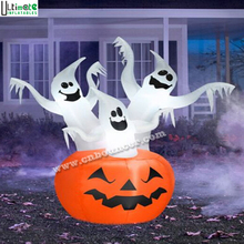 Hot sale pumpkin lantern Halloween inflatable with led