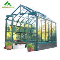 NEW elegant insulated tempered glass greenhouses for agriculture