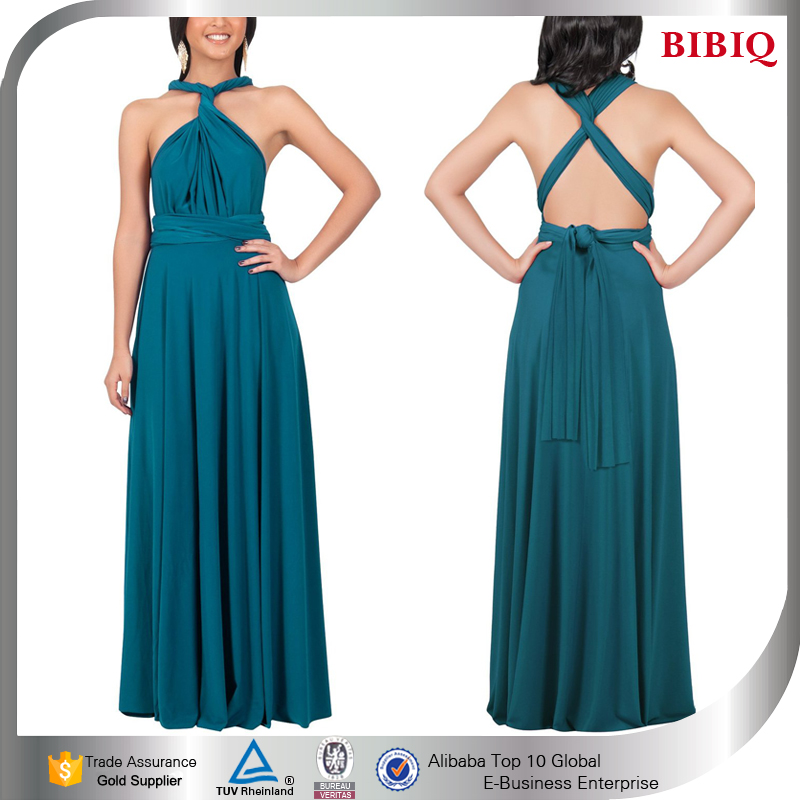 wholesale clothes turkey teal wedding dress latest new multi way wrap convertible dress long stylish anarkali dresses