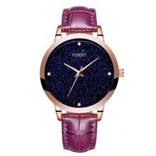 2017 hot sale red leather watch private label nibosi women