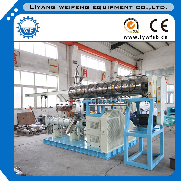 Single Screw Dry extruder machine for floating fish feed