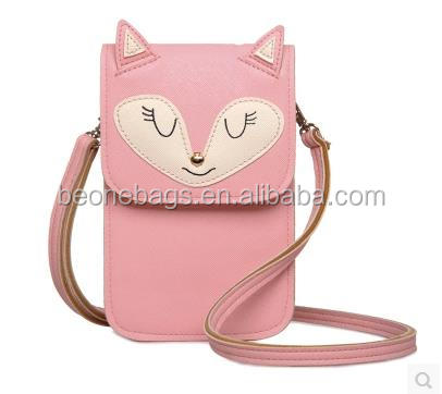 Latest fashion mobile cell phone sling shoulder bag with cartoon figure