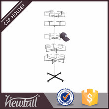 Custom iron wire display spinner rack for hat