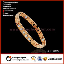 Popuar Tungsten steel IP gold plated energy bracelets