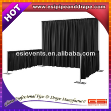 The hottest pipe and drape for exhibition booth material
