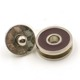 round alloy enameled metal magnetic buttons for clothing