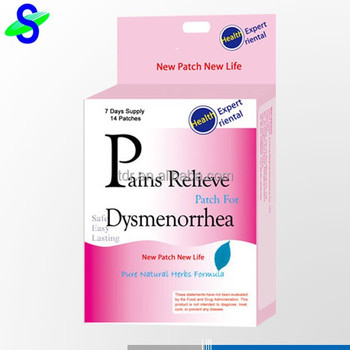 Cramp relief patch for woman's menstrual period dysmenorrhea