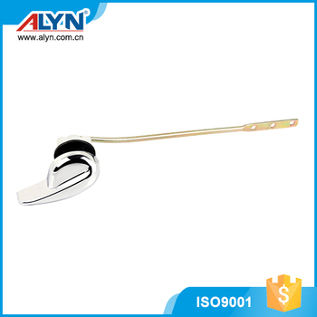 Custom made copper plated iron rod ABS toilet handle lever