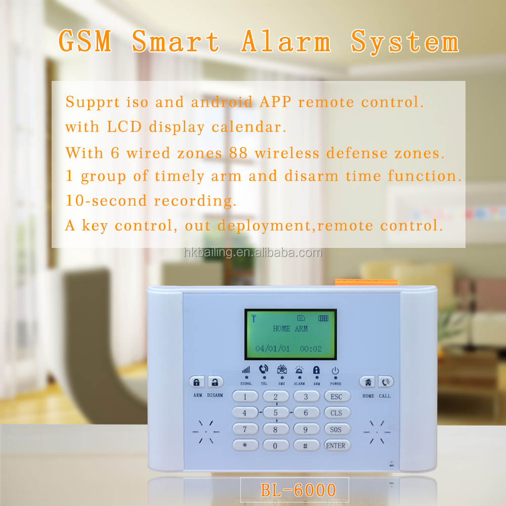 433MHZ GSM Alarm System Home Security Intruder Wireless Security Alarm System