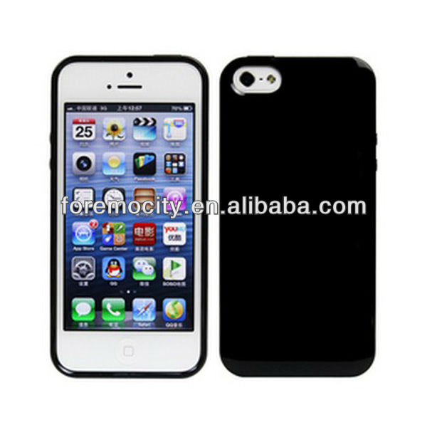 "tpu cell phone case for iphone 5"" headphone with dust proof plug"