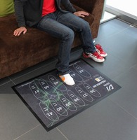 Shoe Sanitizing Floor Mat With Design Printing