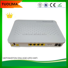 Hot China Supplier TUOLIMA FTTH 2GE+2FE+WIFI EPON ONU