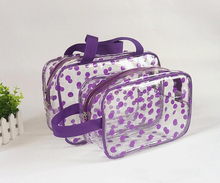 high quality easy carry pvc waterproof cosmetic bags with handle