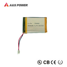 Rechargeable 704060 lithium polymer 3.7v 3600mah battery for portable pc