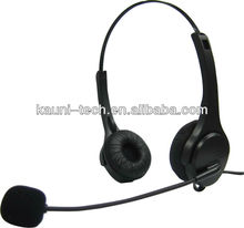 Call center nosie cancelling headset with usb or rj11 plug, QD option (OEM/ODM)