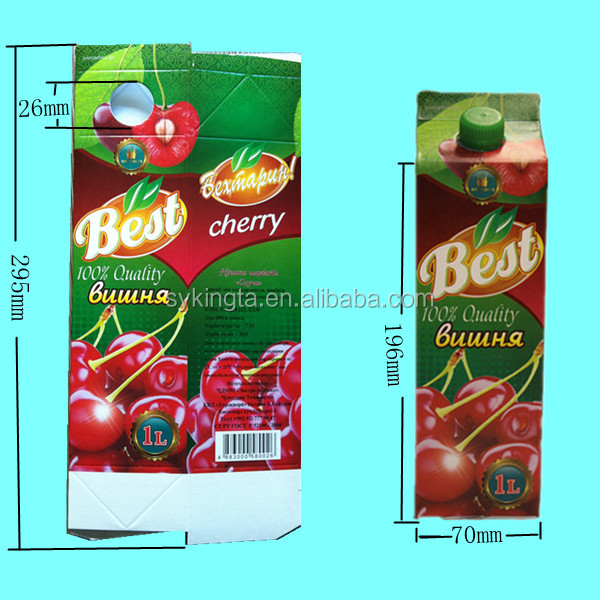 Long shelf life Juice Gable top carton