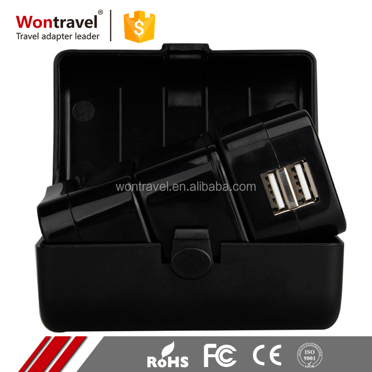 Wholesale alibaba universal international world travel adapter kit plug with usb port for south africa
