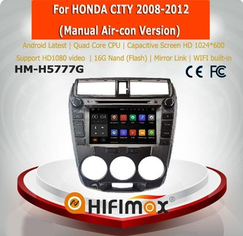 Hifimax Android car radio for honda city car multimedia car stereo car audio with wifi manual air condition