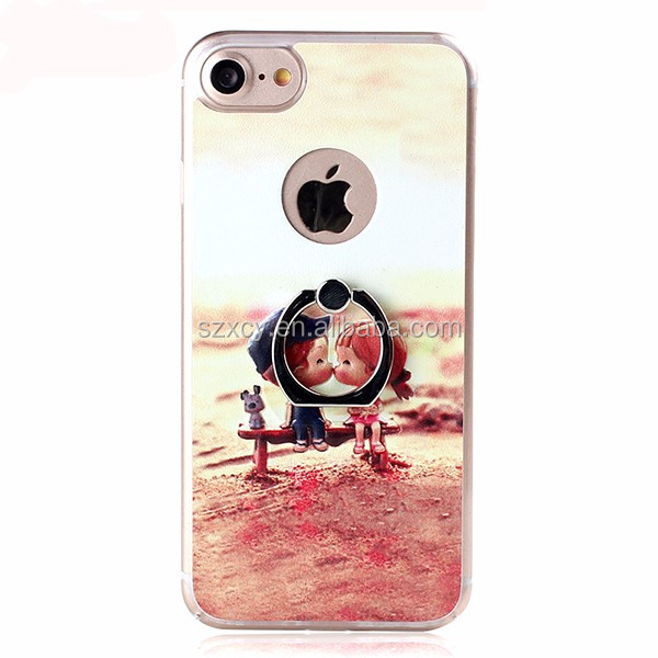 2016 OEM 3D relief custom print hard PC cell phone case cover for iPhone 7 4.7