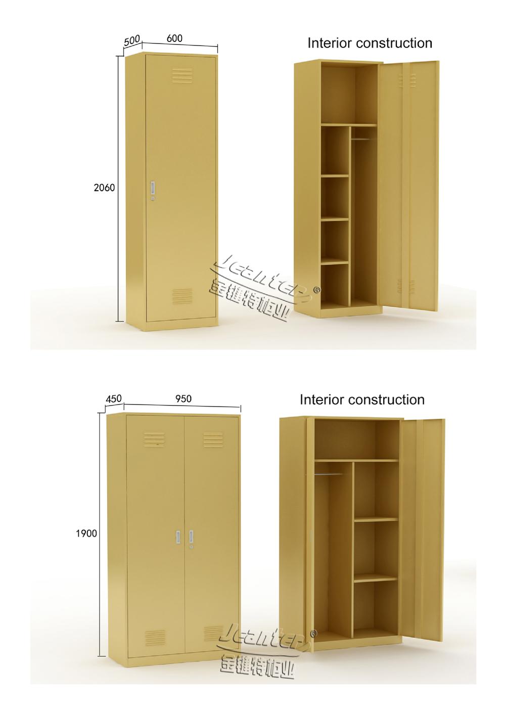 2 Door Cupboard Inside Designs yellow 1/2 door steel wardrobe design - buy steel wardrobe design