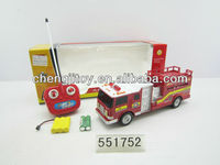 New arriving rc toys 6 ch rc fire engine with light