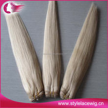 Wholesale good quailty low price 100% virgin human remy hair #60 white blond hair