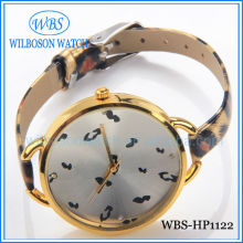 Jewelry lady watch thin leather band watch on sale