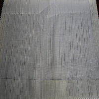 Wholesale woven white color stripe voile drape fabric for eyelet curtains
