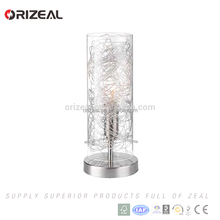 Orizeal CE RoHS certified modern LED glass table lamp, glass cover small bedside table lamps Prices cut in half