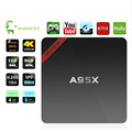 Latest smart tv box a95x Android 6.0 4K Smart TV Box Amlogic s905x 2.4G/5G WiFi 2GB+16GB quad core streamer TV box