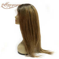 New Fashion silk straight 3 tone color ombre hair full lace wig