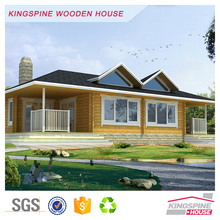 Luxury 2-bedroom design Wood House Prefabricated Log Home Cabin 146.11 m2 KPL-053
