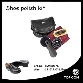 Portable shoe care kits, mini shoe care sets, mini shoe care tools