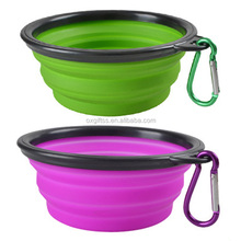 OXGIFT Made in China Alibaba wholesale Manufacture Amazon Wish taobao Custom logo Portable Folding Silicone Pet Dog and Cat Bowl