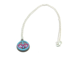 Latest Design Emoji Eyeball PVC Charm Necklace
