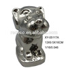 New design electroplate ceramic dog figurines for sale