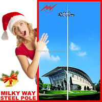 20m 30m multisided powder coated yard light pole with lifting system