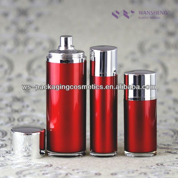 Cosmetic Oval Container Airless Pump Bottles 100ML