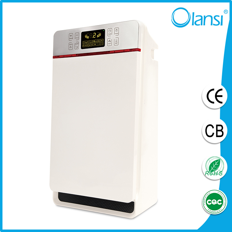 Portable Electrical green home ionizer air purifier, air cleaner with humidifier with odor sensor