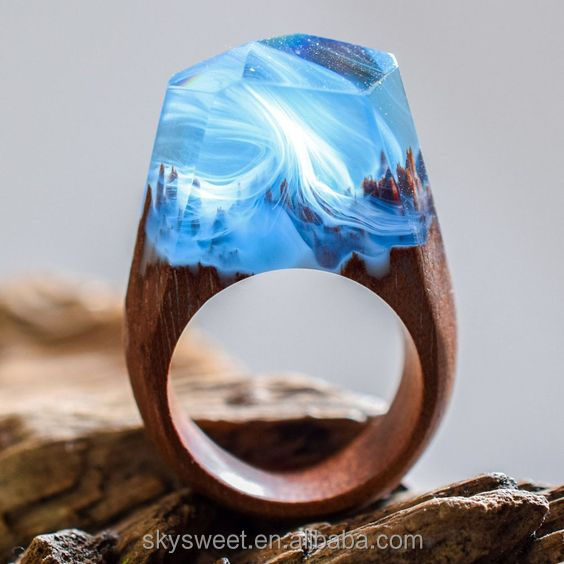 resin handmade secreted wooden rings for women jewlry (SWTMD2851)
