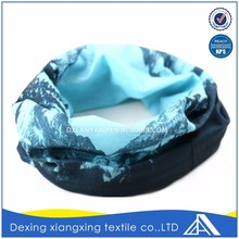 Face mask cheapest multifunctional neck landscape painting fashion elastic head scarf/bandana manufacture