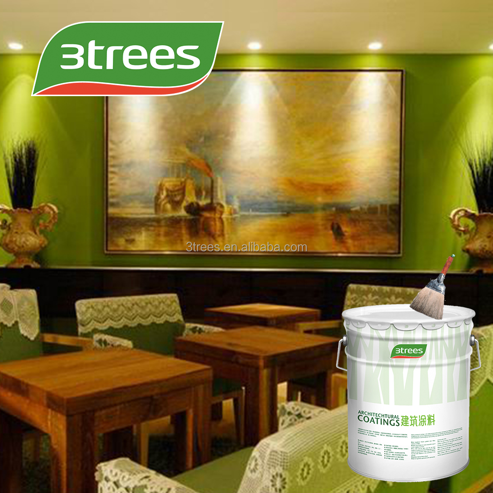 3TREES washable interior wall emulsion matt white paint