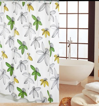 Selling flowers simple a variety of practical PEVA shower curtain