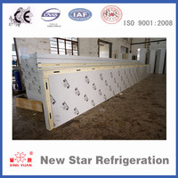 200mm/7.87 inch thick PU insulated aluminum sandwich panels for cold storage/ cold room