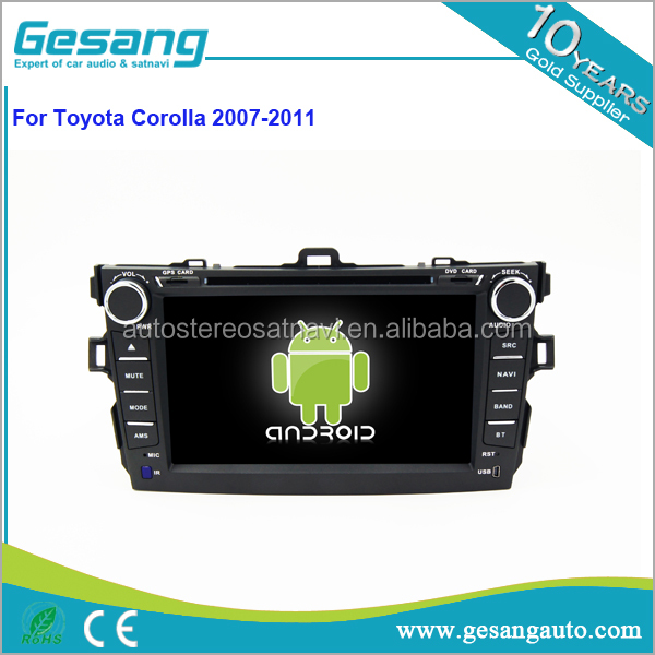 Gesang HD touch screen Auto Radio DVD gps for TOYOTA Corolla 2007 - 2011 with Quad Core Rockchip 3188 1080P 16g ROM WiFi 3G