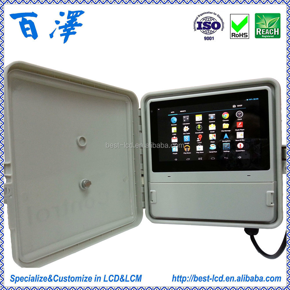 7 inch capacitive touch screen smart home tablet with wifi bluetooth speaker camera multi function