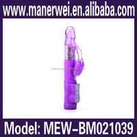 Battery operated electric shock double vibrating pussy and clit insertable wand female vagina mini av vibrator