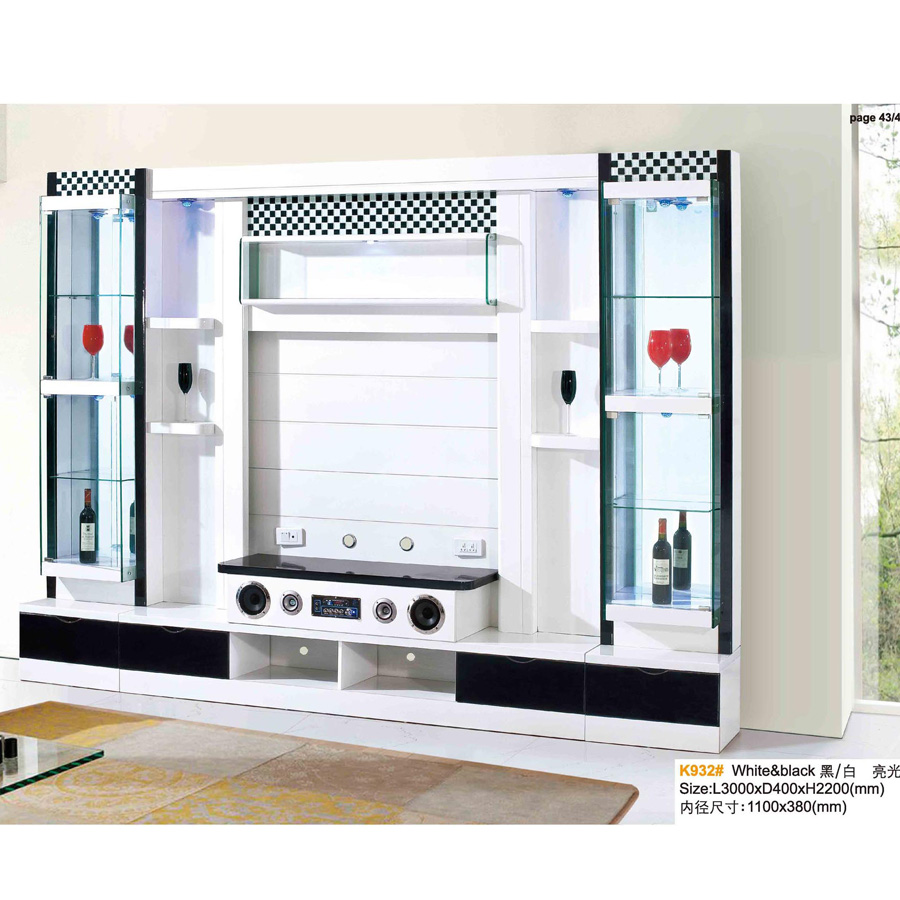2016 Latest LCD TV Hall Cabinet With Showcase Design For Living Room