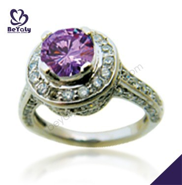 wholesale 925 sterling silver jewelry purple diamond engagement rings