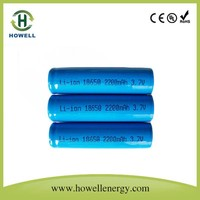 li-ion rechargeable batteries 3.6v 18650 2.2ah